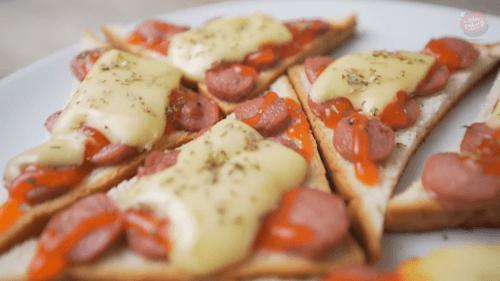 Roti Tawar Pizza