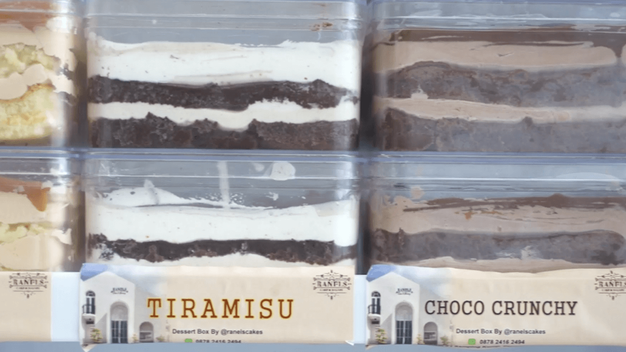 Dessert Box Viral Ranels Cake
