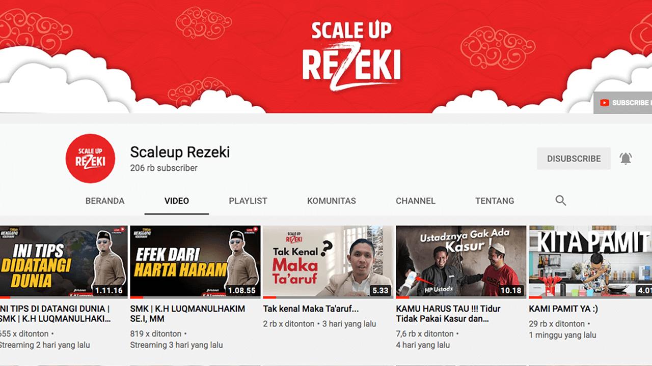 Mari Dukung YouTube Channel Scaleup Rezeki !