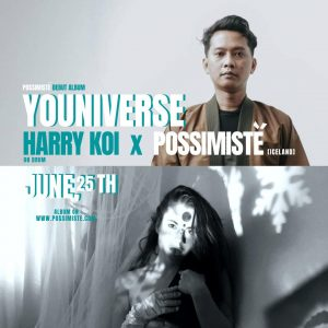 Drumer asal Bandung Harry Koi dan penyanyi pop fantasi dari Islandia Possimiste.